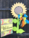 Sunflower - Large with Stem - Door Hanger