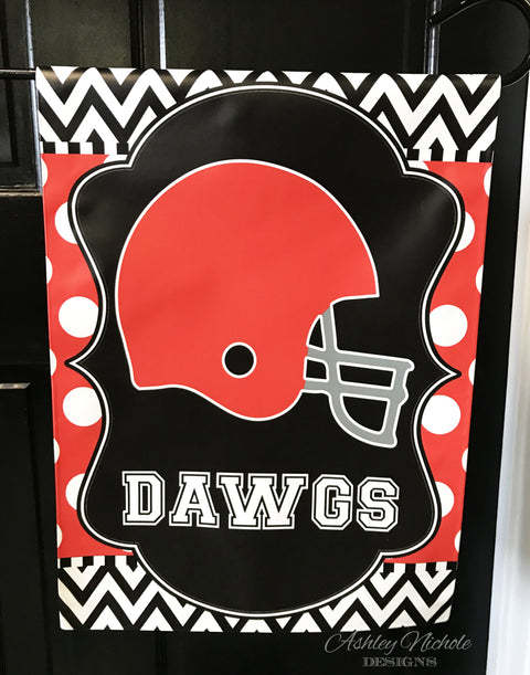 Football Team Helmet Garden Flag