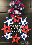 Stars Name Monogram Door Hanger