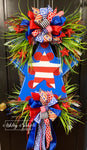 Star Struck Patriotic Greenery Wreath
