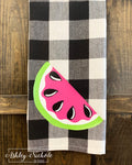 Watermelon-PINK-Buffalo Check Dish Towels