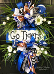 Team Football Wreath with Floral