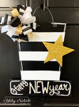 New Year's Day Party Hat Door Hanger