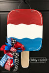 Red, White, and Berry Popsicle Door Hanger - Patriotic