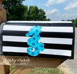 Seahorse Glitter Mailbox Cover
