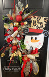 Snowman Wreath - Leopard Fun