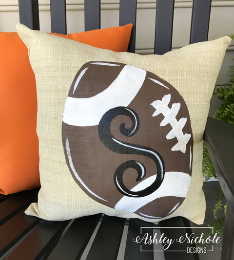 "18"" Custom-Football Pillow"