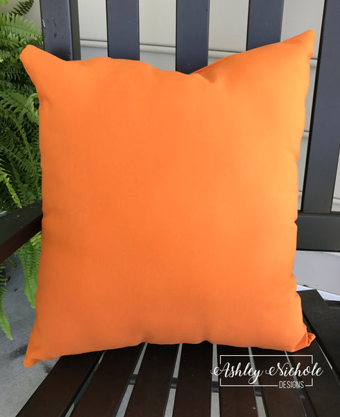 "18"" Outdoor Pillow-Sunburst Orange"