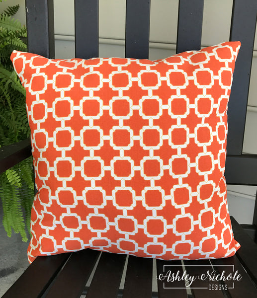 "18"" Outdoor Pillow-Mandarin Orange"