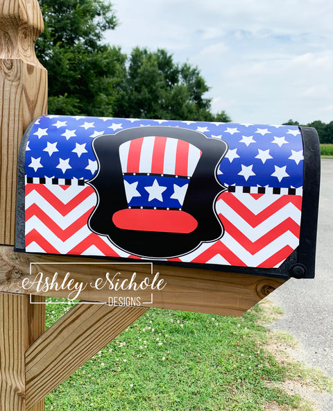 Uncle Sam Patriotic Mailbox Cover