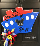 Disney Cruise Countdown Plaque Door Hanger