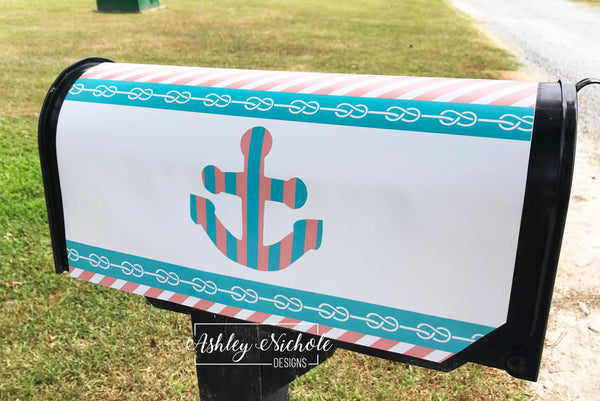 Anchors Away Mailbox Cover