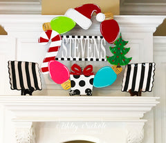 Holiday BLACK Stripe Dessert or Accent Plate