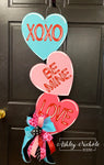 Conversation Heart Valentine Door Hanger