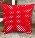 "18"" Outdoor Pillow-Premier Prints Mini Dot Red/White"