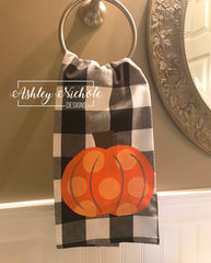 Buffalo (Black) and Pumpkin Dish Towels