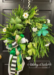 Field of Clovers St. Patrick's Day Wreath