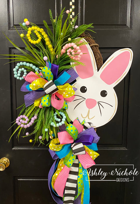 Bunny Face Easter Wreath