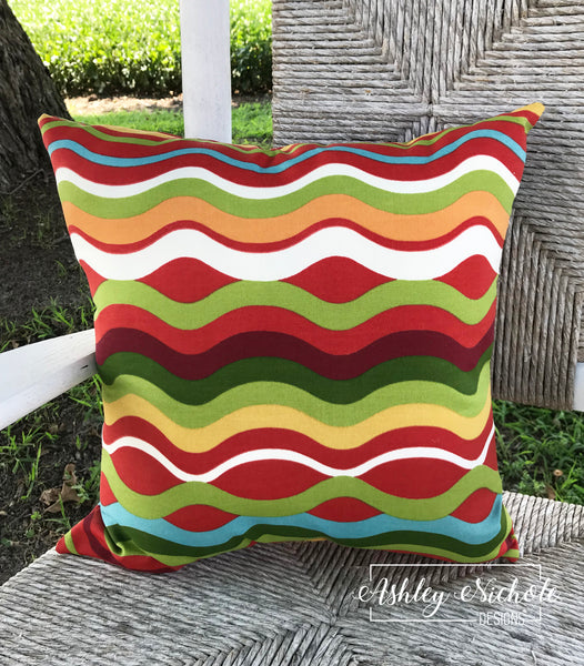 "18"" Outdoor Pillow-Beachside"