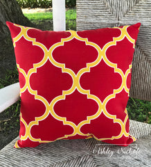 "18"" Outdoor Pillow-Irondaze Pompeii"