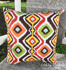 "18"" Outdoor Pillow-Mesa Chocolate"