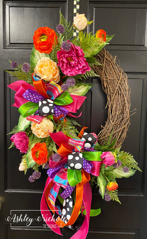 Spring Tropical Oval Wreath