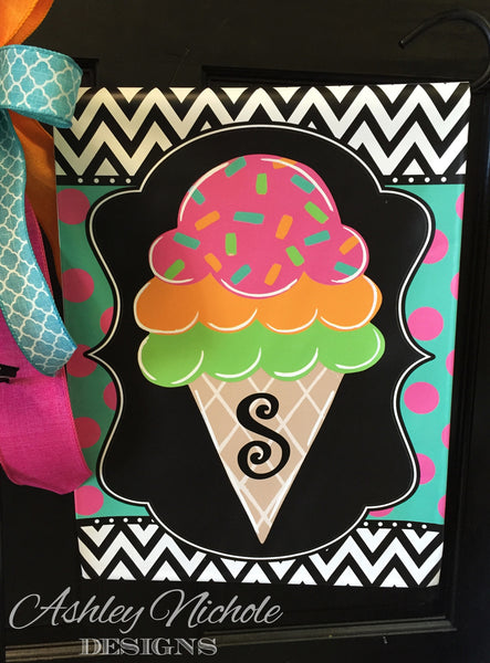 Ice Cream Garden Flag