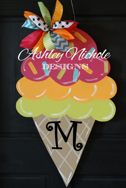 Ice Cream Cone Door Hanger