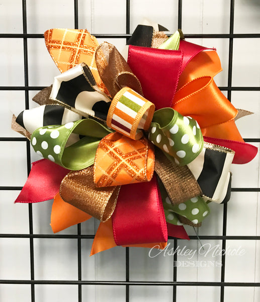 Fall-Bow-Large Puff - Elegant Fall
