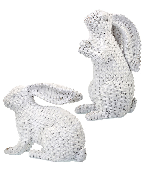 "Resin ""Rattan"" Bunny - Choose from Two Styles"