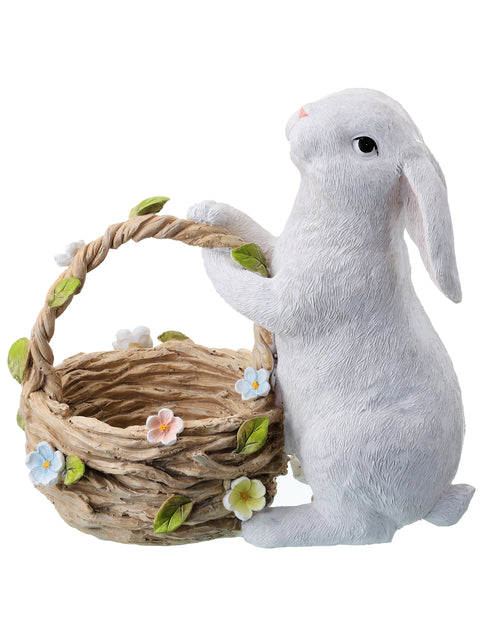 Resin Bunny with Easter Basket
