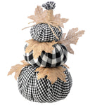 Country Check Leaf Pumpkin Stack