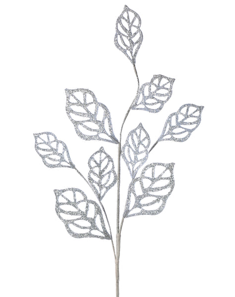 Pick - Frosted Winter Leaf Cutout 32""