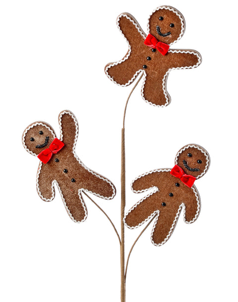 Pick - Velvet Gingerbread Man 26""