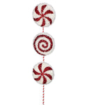 Pick - Triple Tinsel Peppermint Stem 20""