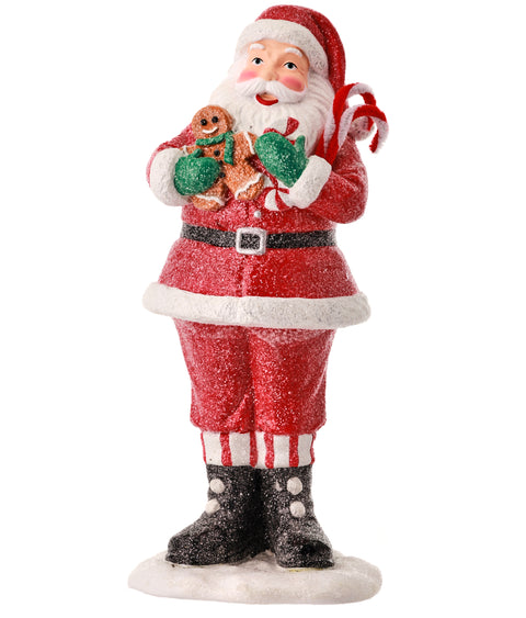 Bakery Santa Resin Figurine