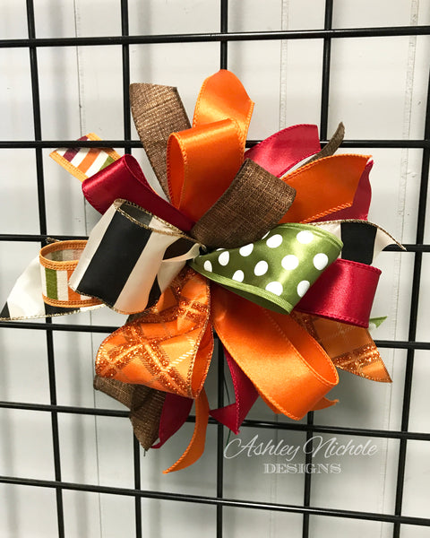 Fall-Bow-Medium Puff - Elegant Fall
