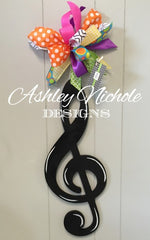 Music Treble Clef Door Hanger