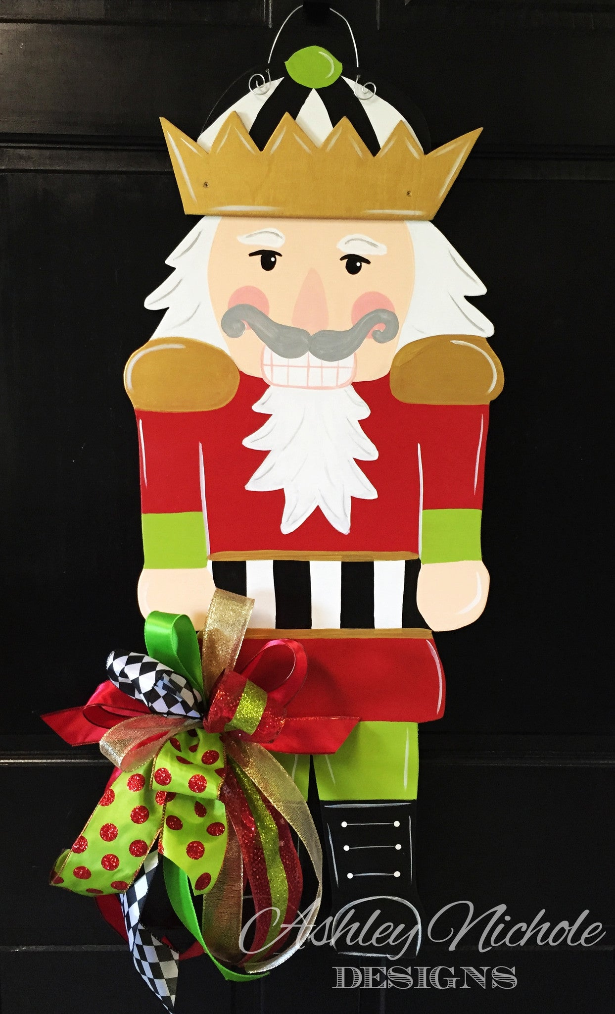 Nutcracker Christmas Door Hanger Ashleynichole Designs