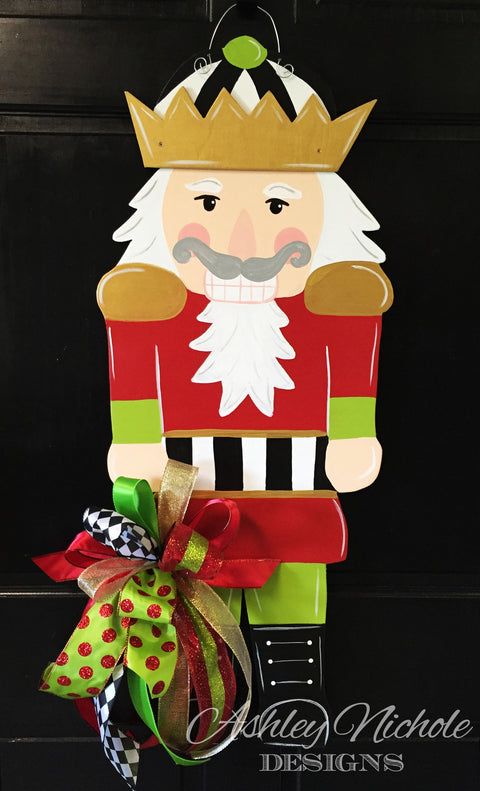 Nutcracker Christmas Door Hanger