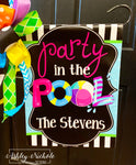 Party in the Pool Garden Vinyl Flag