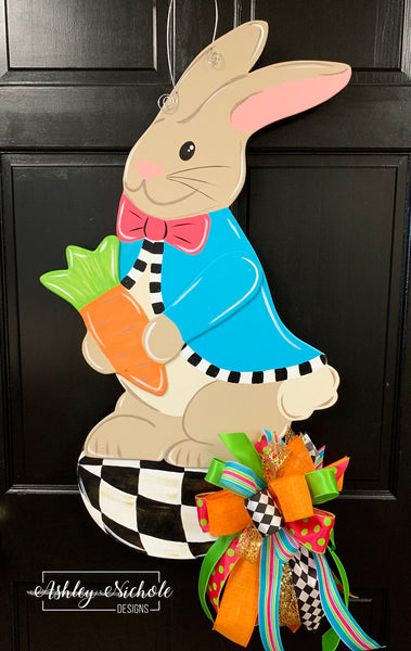 Peter Rabbit and Egg Door Hanger