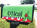 Holly Berry-Christmas-Last Name Vinyl Mailbox Cover
