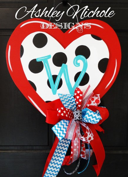 Polka Dot Double Heart Red