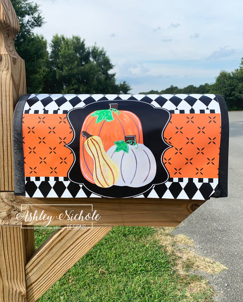 Pumpkins and Gourd Magnetic Mailbox Cover