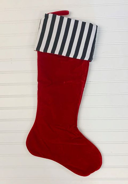 Days of Decor Deals!! - Red Stocking with Black Cuff