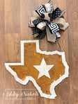 Rustic Texas Star Door Hanger