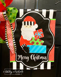 Santa with Presents Garden Vinyl Flag