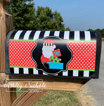 Santa with Presents Vinyl Mailbox Cover