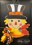 Scarecrow - Black/White with Acorn - Door Hanger